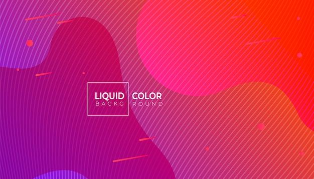 Liquid gradient color abstract geometric background.