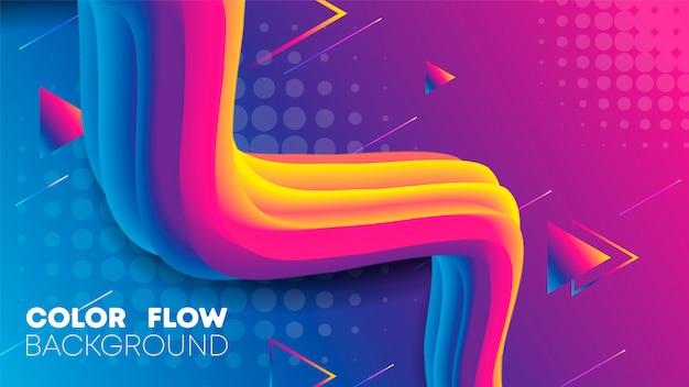 Liquid gradient color background
