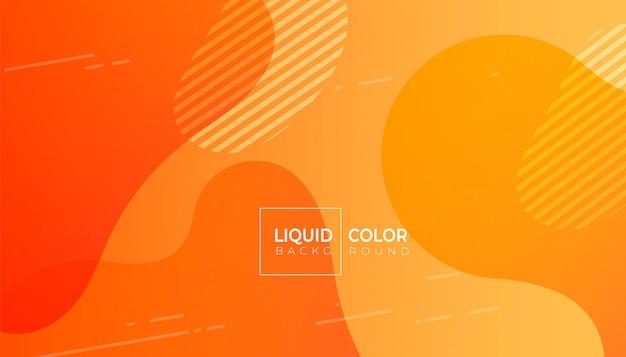 Liquid gradient colorful geometric background.