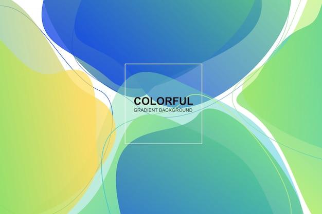 Liquid gradient colorful shape background
