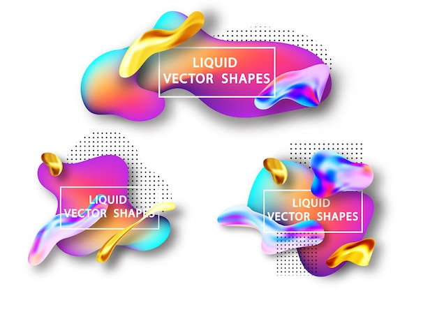 Liquid gradient shape element