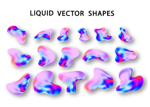 Liquid  holographic gradient shape element