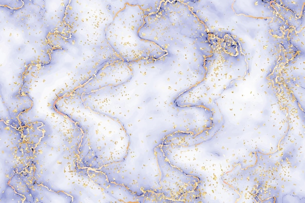 Liquid marble background with gold splatter