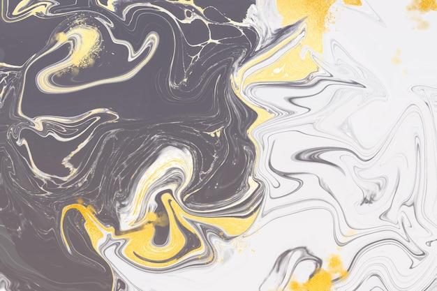 黄金の光沢の質感を持つ液体大理石の背景