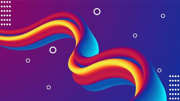 Жидкий фиолетовый цвет градиента современный фон