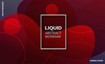 液体の赤い色の背景。未来的なデザインのポスター。