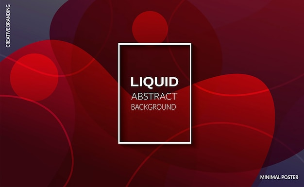 Liquid red color background. futuristic design posters.