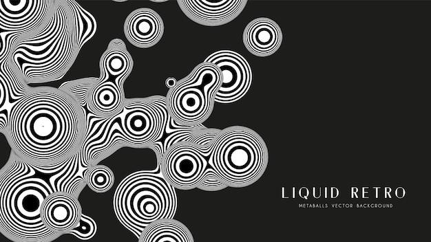 Жидкий ретро 3d зебра с органической структурой. абстрактный черный и белый фон.