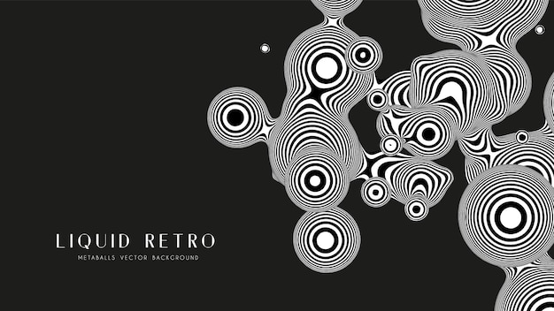 Liquid retro 3d zebra metaball, with organic structures