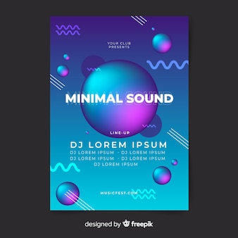Liquid shape music poster template