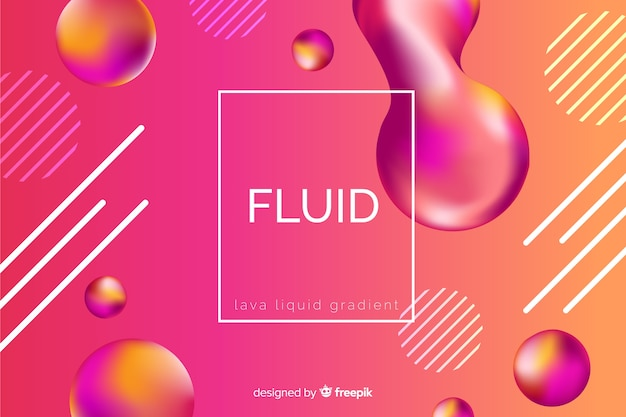 Liquid shapes background