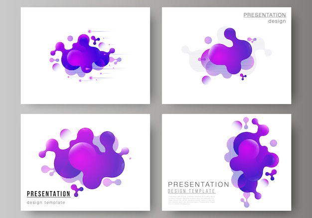 Liquid shapes slides template