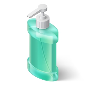 Liquid soap dispenser illustration