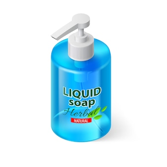 Liquid soap isometric