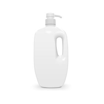Liquid soap and shower gel plastic bottle