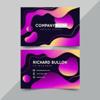 Liquid style business card template