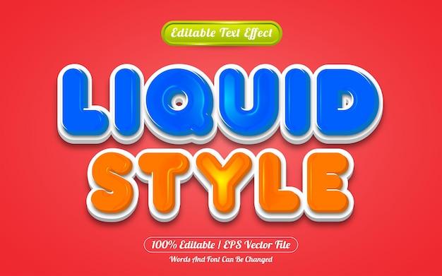 Liquid style editable text effect template