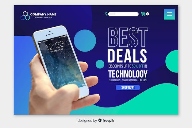 Liquid technology landing page