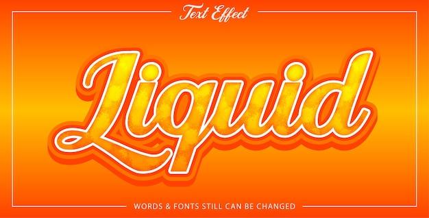 Liquid text effect