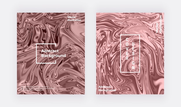 Liquid watercolor marble texture card. nude swirls ink, ripples design