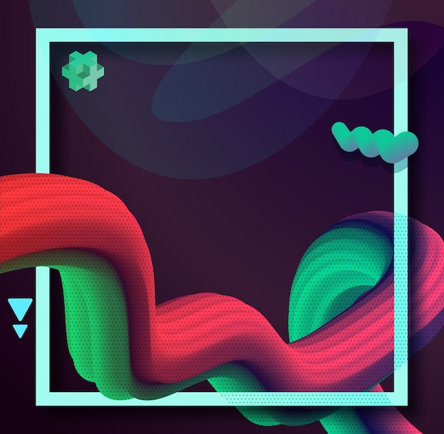 Liquid wave 3d colorful abstract background