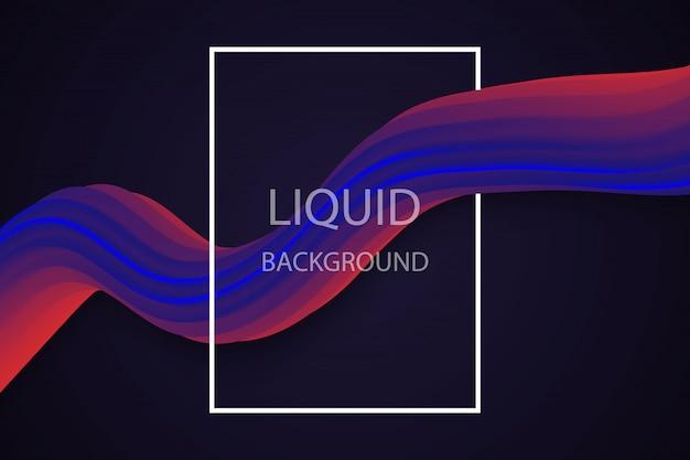 Liquid wave background