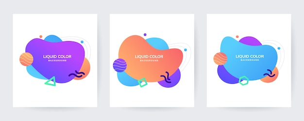 Liquid wave banner sale template