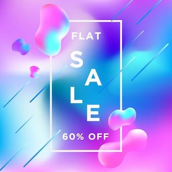 Продажа баннера на liquify fluid цвет фона