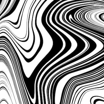 Liquify эффект фона с черным и белым цветами