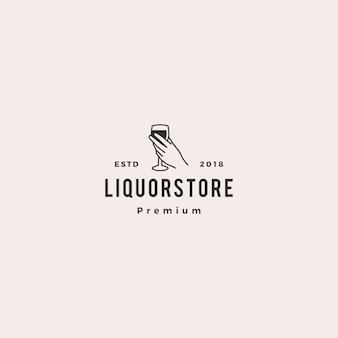 Liquor store shop cafe beer wine logo vector illustration