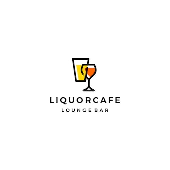 Liquor store shop cafe beer wine logo