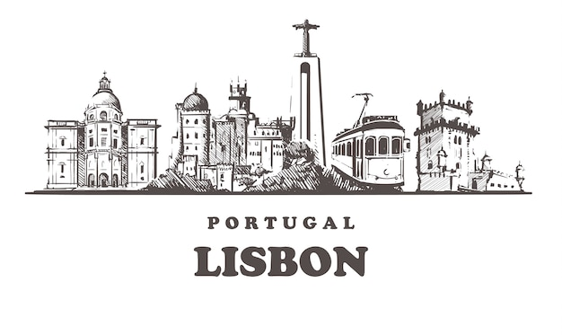 Городской пейзаж лиссабона, португалия
