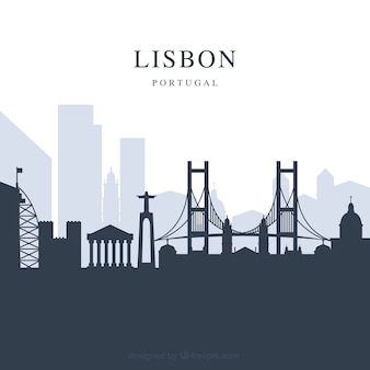 Lisbon skyline background