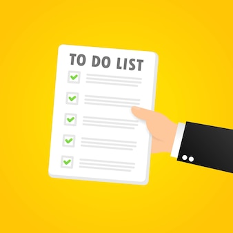 To do list banner. month planning, time management. vector on isolated background. eps 10.