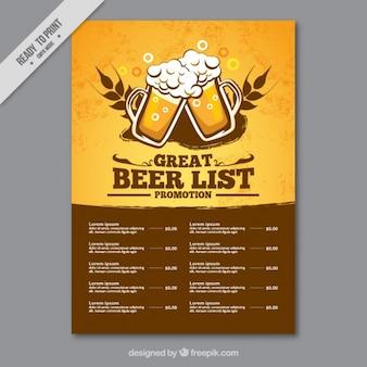 List of beers Premium Vector