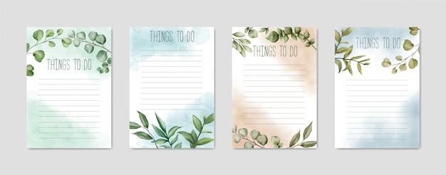 To do list collection with colorful floral design