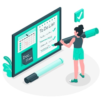 To do list concept illustration