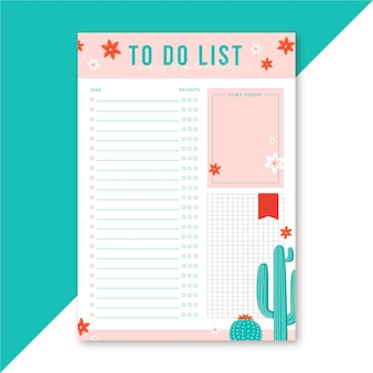 To do list editorial template