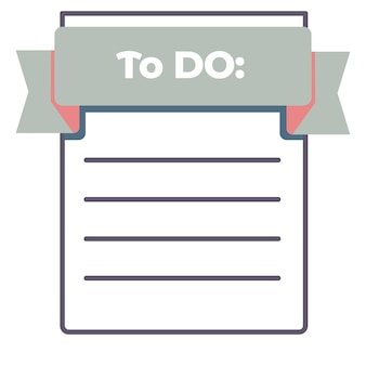 To do list empty piece of paper with lines vector