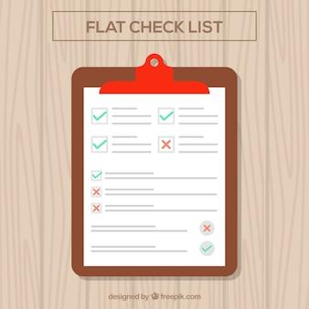 List in flat design