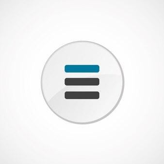 목록 아이콘 2 색상, 회색 및 파란색, 원형 배지