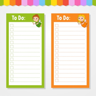 To do list for kids. empty template. the rectangular shape.