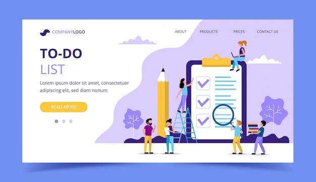 To do list landing page