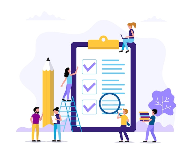 To do list page with check marks