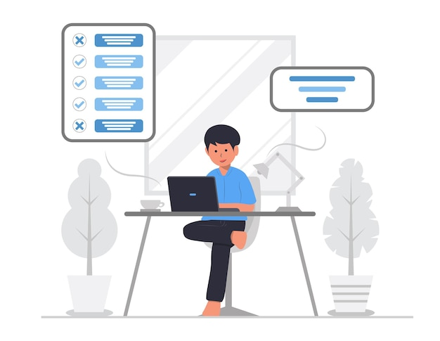 To do list planning or achievment concept illustration