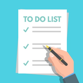To do list, planning concept. tasks are completed. vector flat illustration.