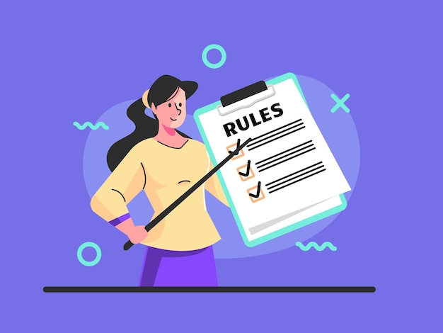List or rules reading guidance making checklist