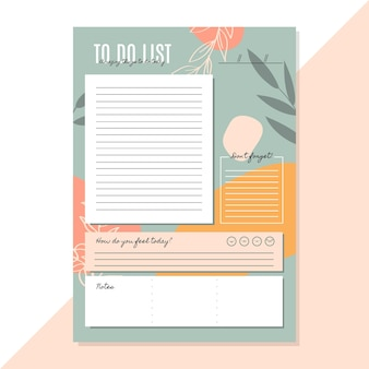 To do list template with leaves