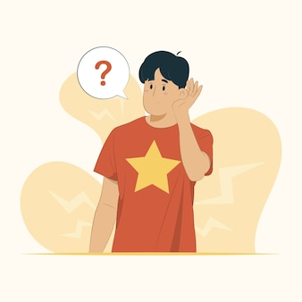 Слух слух сплетни концепция глухоты