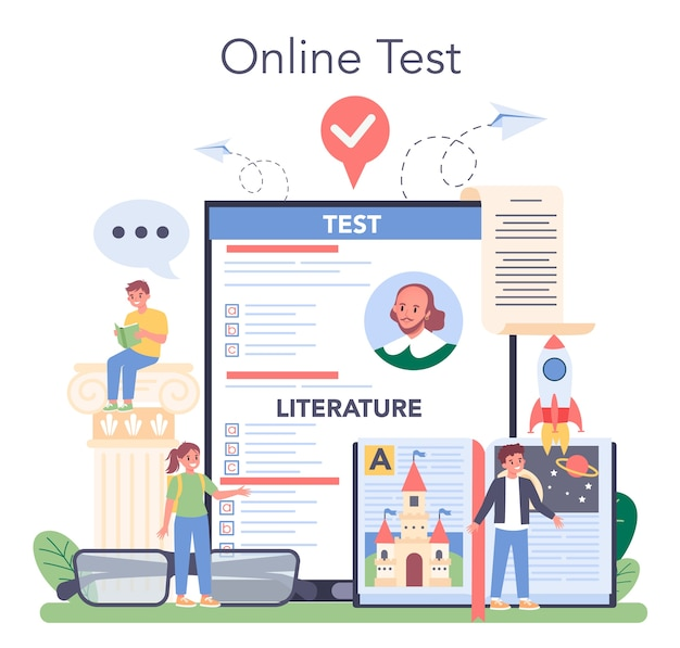 Literature school subject online service or platform